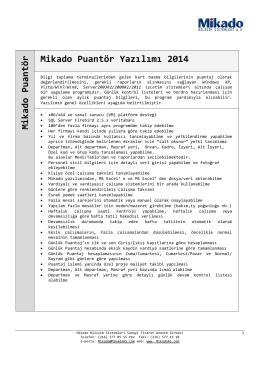 Mikado Puantör Mikado Puantör Yazılımı 2014