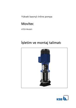Movitec İşletim ve montaj talimatı