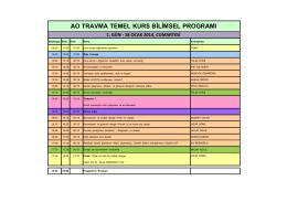 ao travma temel kurs bilimsel programı