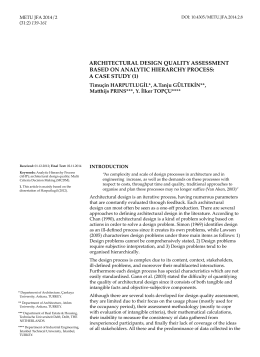 architectural design quality assessment based on analytic hierarchy