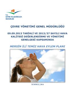 Temiz Hava Eylem Planı 2014-2019