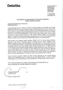 YK Faaliyet Raporu 2014-06