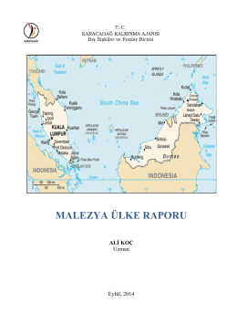 Malezya Ülke Raporu, A.Koç