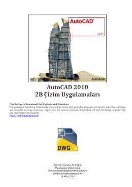 AutoCAD 2010 2B Çizim Uygulamaları