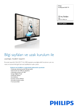 23HFL2809D/12 Philips Profesyonel LED TV