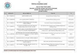Bölgesel ve Sektörel Mali Destek Programı (Kobiler için)