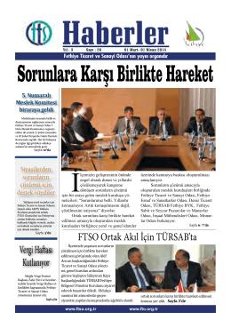 Mart 2014 - Fethiye Ticaret ve Sanayi Odası