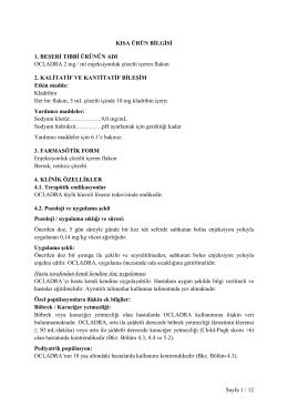 Sayfa 1 / 12 KISA ÜRÜN BĐLGĐSĐ 1. BEŞERĐ TIBBĐ
