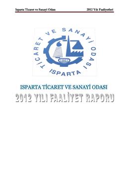 ITSO 2012 Faaliyet Raporu - Isparta Ticaret ve Sanayi Odası