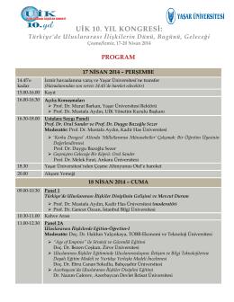 uik 10. yıl kongresi
