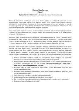 Ödev 3 (Teslim Tarihi: 31/10/2014)