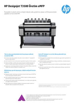 HP Designjet T3500 Üretim eMFP