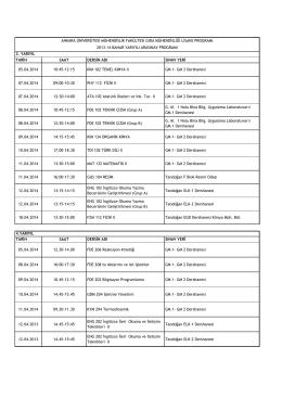 GM 2 Dershanesi 07.04.2014 09:00-10 - Gıda Mühendisliği