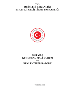 2014 Yılı Mali Durum Raporu