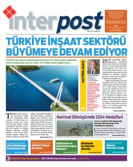 türkiye inşaat sektörü büyümeye devam ediyor