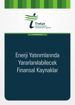 Enerji Yatırımlarında Yararlanılabilecek Finansal Kaynaklar