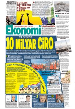 1 ağustos 2014 - Ekonomi Gazetesi