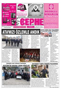 11.11.2014 Tarihli Cephe Gazetesi