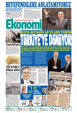 9 ağustos 2014 - Ekonomi Gazetesi