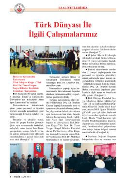 Sayfa 4-10 - Türk Dünyası Araştırmaları Vakfı