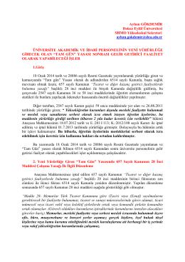 Ayhan GÖKDEMİR Dokuz Eylül Üniversitesi