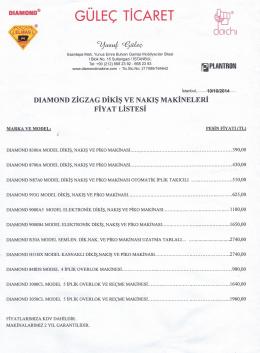 dıamond fiyat listesi 2014