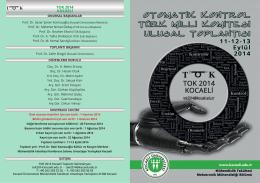 broşürü - TOK 2014 - Kocaeli Üniversitesi