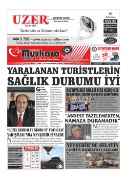 YARALANAN TURİSTLERİN - Nevşehir Muşkara Haber
