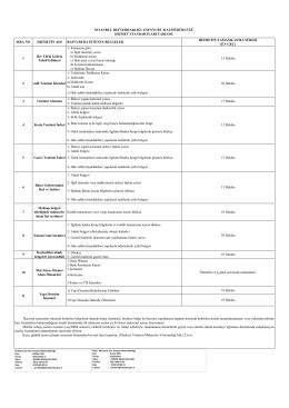 Esenyurt İlçe Mal Müdürlüğü Hizmet Standartları