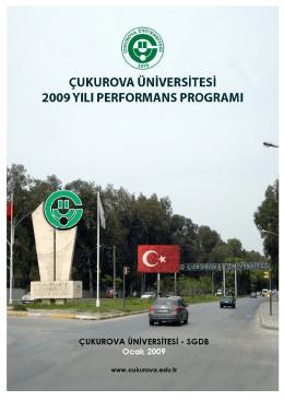 Ç.Ü. 2009 Yılı Performans Programı - ÇÜ Strateji Geliştirme Daire