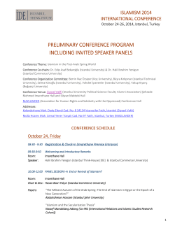 prelımınary conference program ıncludıng ınvıted speaker panels