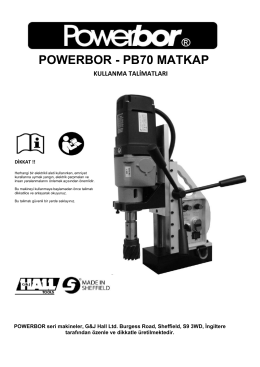 POWERBOR - PB70 MATKAP