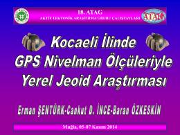 18. ATAG AKTİF TEKTONİK ARAŞTIRMA GRUBU TOPLANTILARI