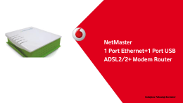 NetMaster 1 Port Ethernet+1 Port USB ADSL2/2+