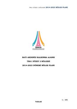 TR61 Düzey 2 Bölgesi 2014-2023 Bölge Planı
