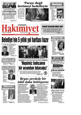 9 ekim.qxd - Çorum Hakimiyet Gazetesi