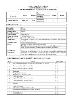 EEM 202-Devre Analizi II - Mühendislik Fakültesi