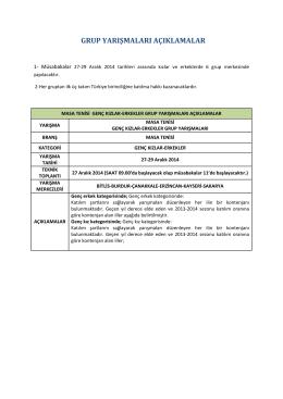 Dosya - Türkiye Masa Tenisi Federasyonu