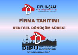 FİRMA TANITIMI - DİPU Kentsel Dönüşüm