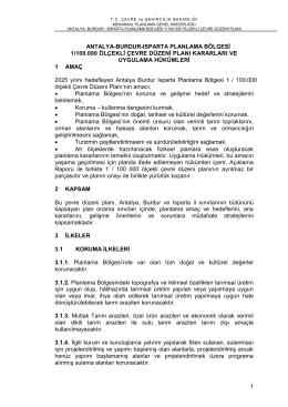 antalya-burdur planlama bölgesi - Çevre ve Şehircilik Bakanlığı