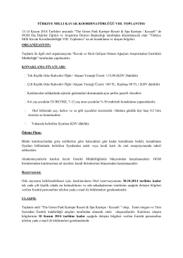 Konaklama ve Ulaşım - Orman Genel Müdürlüğü