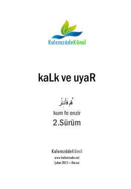kaLk ve uyaR - WordPress.com
