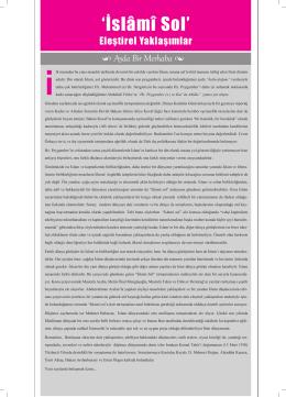 Islami Sol (Umran Dergisi – 2010)