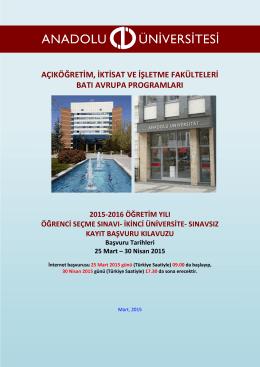 okuyunuz - Anadolu Üniversitesi Batı Avrupa Bürosu.