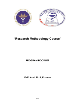 """Research Methodology Course"""
