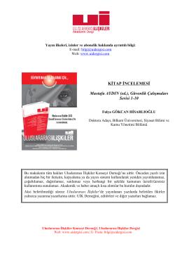 KİTAP İNCELEMESİ Mustafa AYDIN (ed.), Güvenlik Çalışmaları