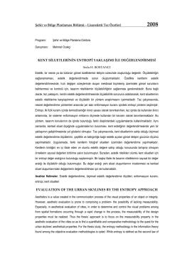 Doktora tez özetleri - İTÜ Mimarlık Fakültesi Şehir ve Bölge