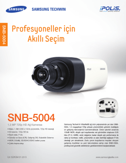 SNB-5004 - Mavi Güvenlik