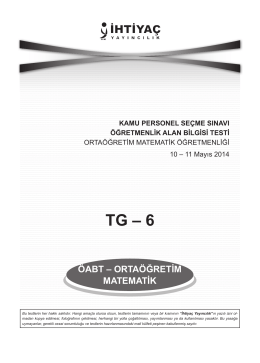 Ortaöğretim Matematik 6