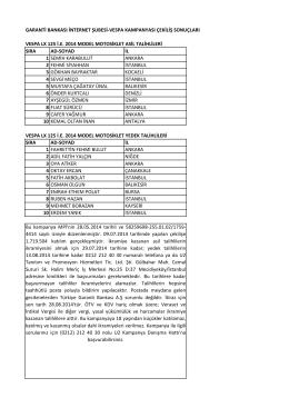 garanti bankası internet şubesi-vespa kampanyası çekiliş sonuçları